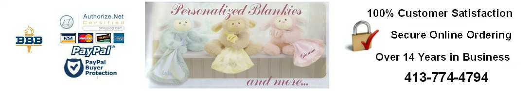 Personalized Blankies and More Header