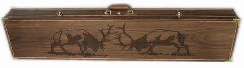 Personalized wooden Rifle Cases