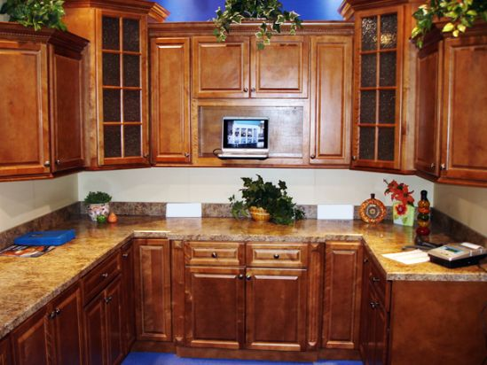 natural wood kitchen cabinets