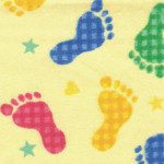 Footprints Fabric