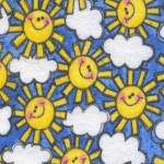 Smiling Suns Fabric