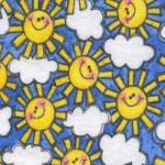 Smiling Suns Fabric