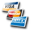 We Accept Visa Master Card and American Express